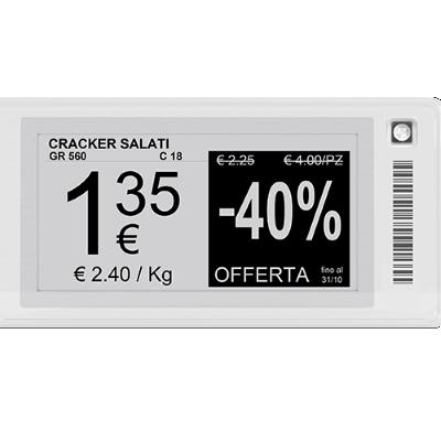Elektroninės kainų etiketės EPD M – puikus pasirinkimas, siekiantiems optimalaus, tačiau itin aiškaus ir tikslaus prekių pristatymo funkcionalumo. Šios elektroninės kainų etiketės yra itin optimalaus dizaino, tačiau turi visą reikiamų funkcionalumą, norint išsamiai etiketėje aprašyti savo prekę. Elektroninės kainų etiketės EPD M puikiai tinka bet kuriame prekybos sektoriuje. Jos teikia ne tik itin patogų pirkėjams ir pardavėjams funkcionalumą, tačiau ir moderniai atrodo. Jeigu nežinote ar nesate tikri ar šios elektroninės kainų etiketės EDP M yra tinkamos Jūsų vykdomai veiklai, tuomet susisiekite su ASPA komanda. Mes padėsime Jums apsispręsti ir priimti verslui palankius sprendimus. El.paštas: info@aspa.lt, tel.nr. +370(686) 69288 arba fizinėse parduotuvėse Vilniuje, Kaune ir Klaipėdoje.