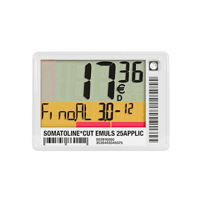 Elektroninės kainų etiketės LCD S