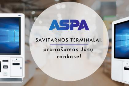 ASPA savitarnos terminalai, prekybinė įranga